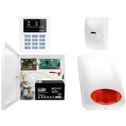 System alarmowy z GSM: Płyta główna CA-5 + Manipulator CA-5 KLED-S + 1x Czujnik ruchu + Moduł GSM + Akcesoria