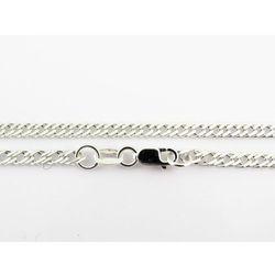 Srebrny (925) łańcuszek ROMBO 50 cm + GRATIS woreczek prezentowy biaky