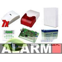 Zestawy alarmowe, Zestaw alarmowy SATEL Integra 32 LCD, 7 czujek, sygnalizator wewnętrzny