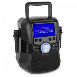 """Auna Stage Hero Zestaw karaoke DVD 7"""" Wyświetlacz TFT Bluetooth Bateria 2 mikrof"""