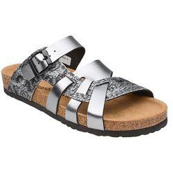 Klapki buty Dr Brinkmann 700991-9 Srebrne - Srebrny ||Grafitowy ||Multikolor