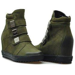 Sneakersy Eksbut 66-4319-I20-1G Zielone nubuk