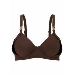 Biustonosz bikini minimizer bonprix brązowy