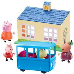 Świnka Peppa Zestaw szkoła + autobus