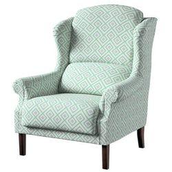 Dekoria Fotel Unique, szaro- miętowe romby na białym tle, 85×107cm, Geometric