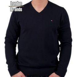 Sweter v-neck Tommy Hilfiger czarny