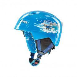 UVEX kask narciarski dziecięcy Manic - blue snow dog (46-50 cm)