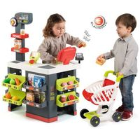 Sklepy i kasy dla dzieci, Smoby Supermarket dla dzieci, szaro-zielony