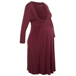 Sukienka shirtowa ciążowa i do karmienia bonprix czerwony klonowy