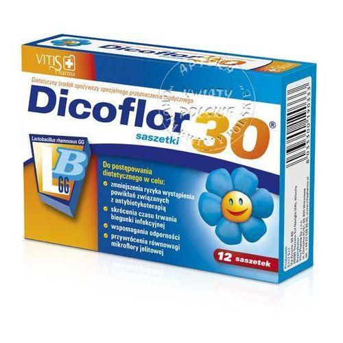 Leki na biegunkę, Dicoflor Activ 30 d/dzieci gran.rozp.w ustach - 10 sasz.