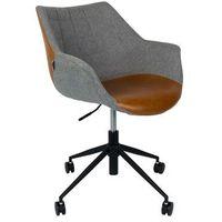 Fotele i krzesła biurowe, Zuiver Krzesło biurowe DOULTON VINTAGE brązowe - Zuiver 1300003