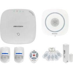 ZA12659 Bezprzewodowy system alarmowy GSM 4G 2 czujki ruchu HIKVISION z sygnalizatorem i pilotem