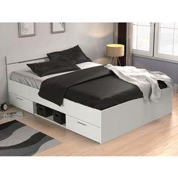 Łóżko GASPARD z szufladami - 140 × 190 cm - Biały