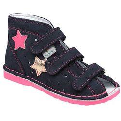 Kapcie profilaktyczne buty DANIELKI TA125 TA135 Granat Fuksja - Granatowy ||Fuksja ||Multikolor