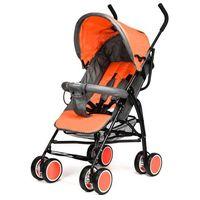 Wózki spacerowe, Wózek spacerówka Moolino Compact E czarno-pomarańczowy