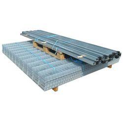 vidaXL Panele ogrodzeniowe 2D z słupkami - 2008x2030mm 10m Srebrne Darmowa wysyłka i zwroty