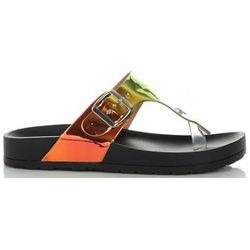 Modne Klapki Damskie z możliwością zwężenia marki Ideal Shoes Czarne (kolory)