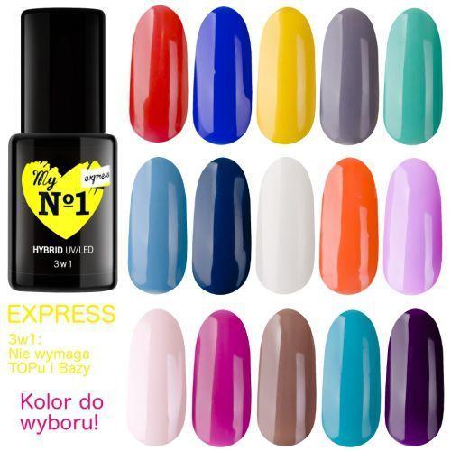 Lakiery do paznokci, My No1 Lakier hybrydowy EXPRESS 3w1 (nie wymaga topu i bazy) kolory do wyboru