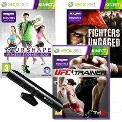 SENSOR KINECT + UFC TRAINER + FIGHTERS UNCAGED + YOUR SHAPE ZESTAW