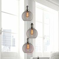 Lampy sufitowe, Lampa wisząca New York Loft 2 CO SCH dymiona