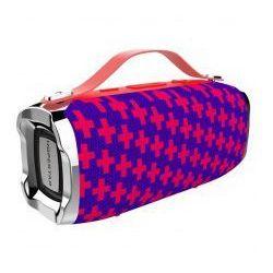 HOPESTAR H36 Portable Bluetooth Speaker - Blue + Red