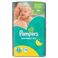Pieluchy jednorazowe, Pieluchy PAMPERS Act. Baby-Dry 2 mini 3-6kg, 76szt - 4015400735878