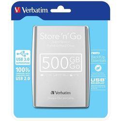 VERBATIM STORE'N'GO 500 GB USB 3.0 SILVER DYSK