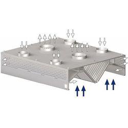 Okap centralny skrzyniowy kompensacyjno-indukcyjny 2000x2200x450 mm   STALGAST, 9821722200