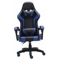 Fotele dla graczy, Niebieski fotel dla gracza z poduszkami - Vexim