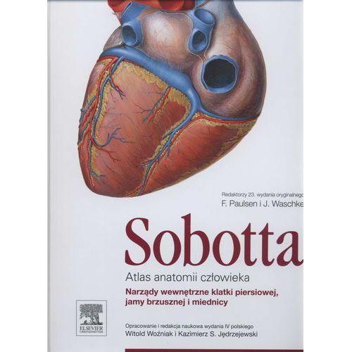 Książki medyczne, Atlas anatomii człowieka Sobotta. Tom 2. Narządy wewnętrzne klatki piersiowej, jamy brzusznej i miednicy (opr. twarda)