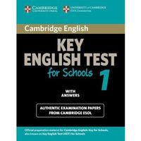 Książki do nauki języka, Cambridge KET for Schools 1 Student's Book (podręcznik) with Answers (opr. miękka)
