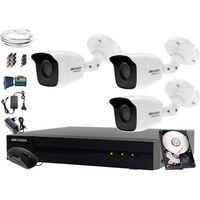 Zestawy monitoringowe, 3x HWT-B123-M Zestaw monitoringu Hikvision Hiwatch HWD-6104MH-G2, 1TB, Akcesoria