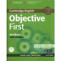 Książki do nauki języka, Objective First 4th Edition. Ćwiczenia z Kluczem + CD (opr. miękka)