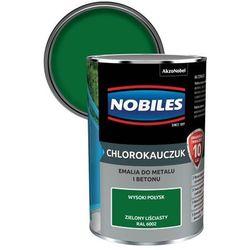 Emalia chlorokauczukowa Nobiles do metalu i betonu zielona liściasta 0,9 l