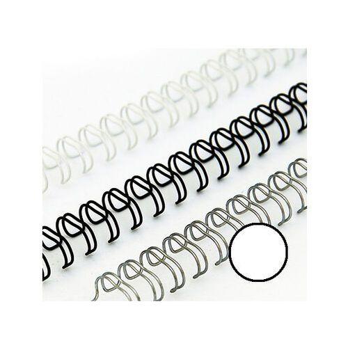 Grzbiety do bindownic, Grzbiety drutowe 9.5 mm, oprawa do 65 kartek, białe