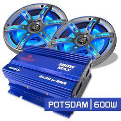 """Auna Zestaw samochodowy HiFi """"Potsdam"""" 2.0 system 600W Mini Amp"""