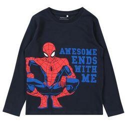 NAME IT Koszulka 'SPIDERMAN JED LS TOP WDI' niebieski / ciemny niebieski / czerwony