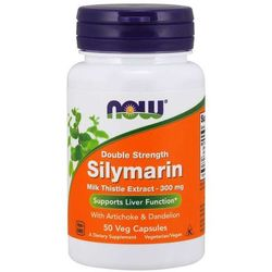 Now Foods Silymarin Double Strength 300 mg 50 kapsułek - 50 kapsułek