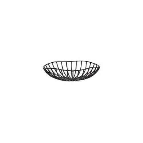 Kosze i pojemniki gastronomiczne, Kosz metalowy CATU czarny śr. 20 cm