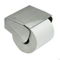 Solid Uchwyt Na Papier Toaletowy z pokrywką Srebrny szczotkowana