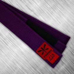pas purpurowy jiu-jitsu z czarnym panelem, 4cm
