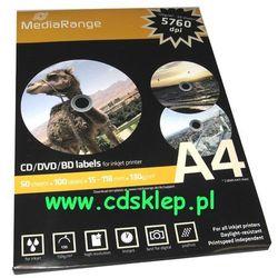 Etykiety na CD/DVD matowe full-face 100szt. MRINK130
