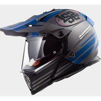 Kaski motocyklowe, KASK LS2 MX436 PIONEER QUARTERBACK MATT/TITAN/BLUE