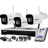 Zestawy monitoringowe, Zestaw wifi bezprzewodowowy 3-kamerowy Hikvision WiFi 4Mpx 1TB