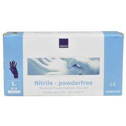 Rękawiczki nitrylowe niebieskie niepudrowane L BP290420