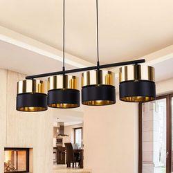 Tklighting Tk lighting hilton 4342 lampa wisząca zwis 4x60w e27 czarny/złoty