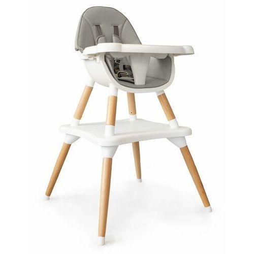Fotelik, krzesełko do karmienia, stół i krzesło, 2w1, szary (5903089067566)