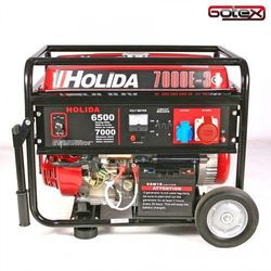 Agregat prądotwórczy, generator wm 7000-3 trójfazowy 7 kw - rozrusznik elektryczny marki Holida