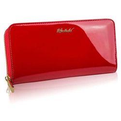 Betlewski Czerwony damski duży portfel duży
