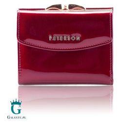 Czerwony lakierowany portfel damski bc401 marki Peterson